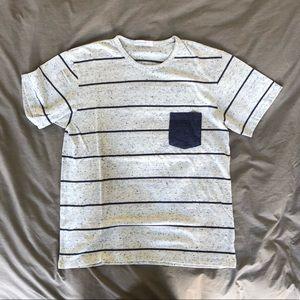 Men's alternative apparel cotton striped tee